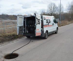 WUKO PODCZAS PRACY pogotowie hydrauliczne Szczecin