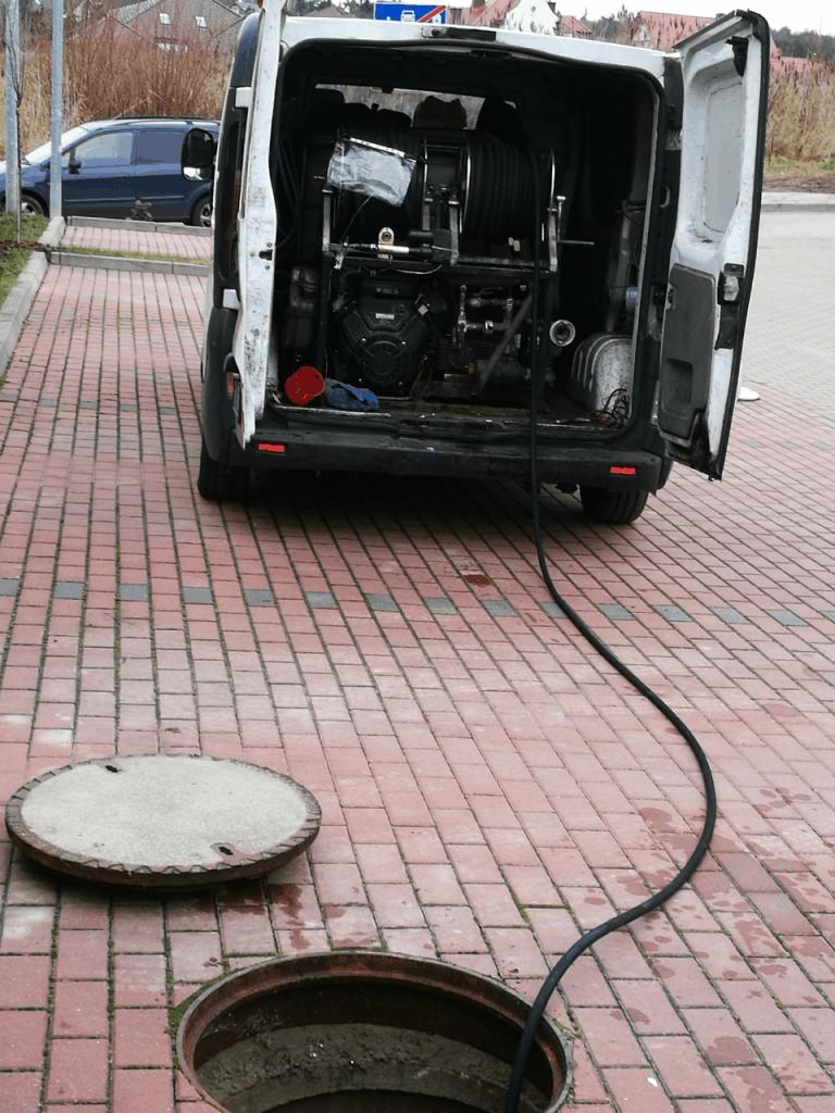 inspekcja wideo zatoru wykonana przez wukokret pogotowie kanalizacyjne szczecin
